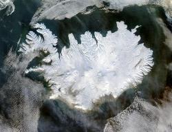 iceland aerial photo