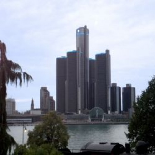 Downtown Detroit, taken from Windsor, across the Detroit River.
