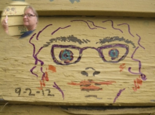 You Too Can Join In The Art Project. . . . . . Sign the House.  It is a guest book. . . . . . I did!