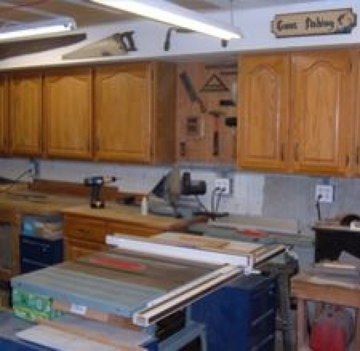 Garage Storage Units from Old Kitchen Cabinets
