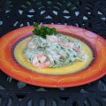 Seafood Alfredo Pasta Recipe: Shrimp and Pasta in a Garlic Cream Sauce