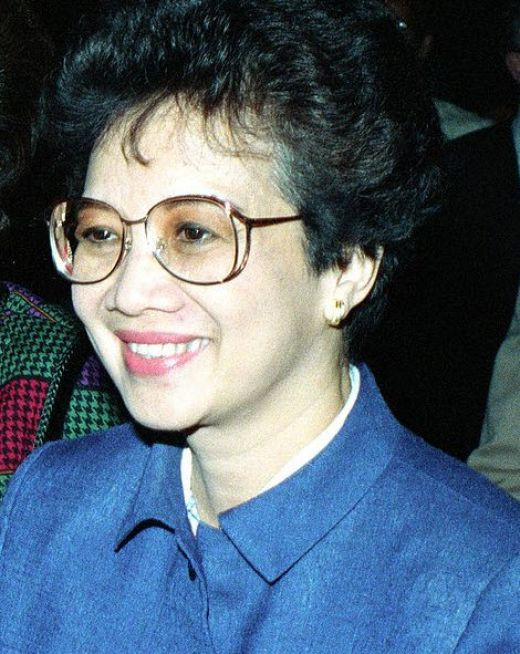 Corazon Aquino, the first woman President of the Philippines