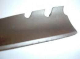 A sharpened lawn mower blade