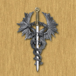 SKU 36247 Dragon Dagger Wall Plaque