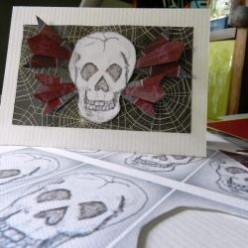 Make A Skull Halloween Card