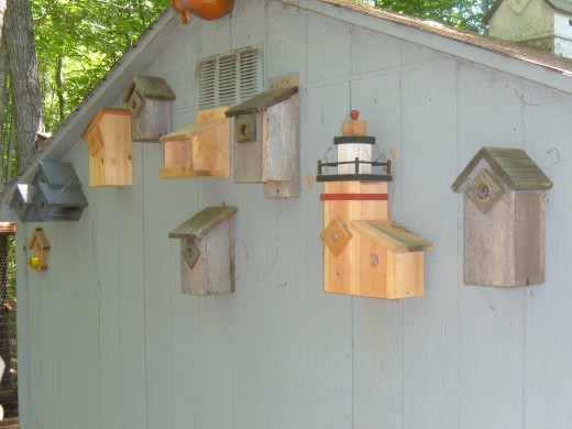 Some of my handcrafted birdhouses