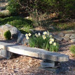 Rock Garden Design: Natural Stone Bench