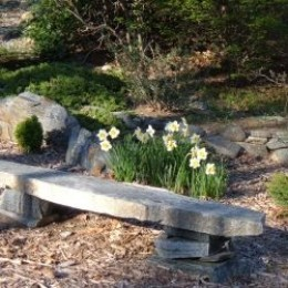 Rock Garden Design: Natural Stone Bench