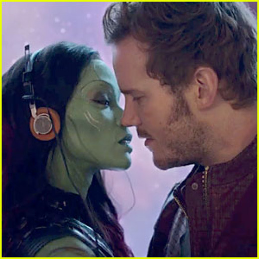 Gamora succumbing to pelvic sorcery