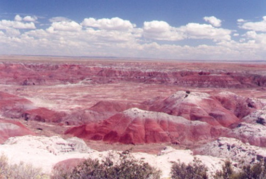 More Painted Desert. The red comes from iron oxide.