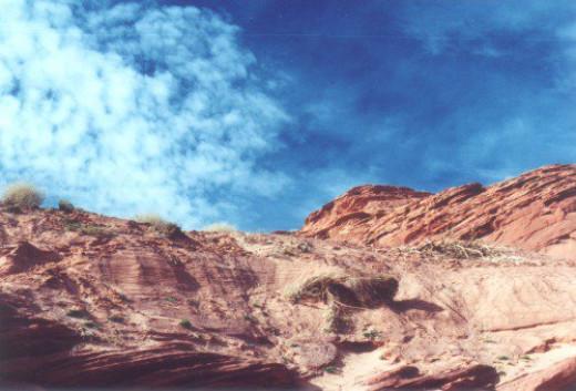 Above ground at Antelope Canyon.