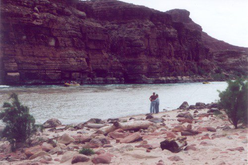 Right at the edge of the Colorado River in Glen Canyon.