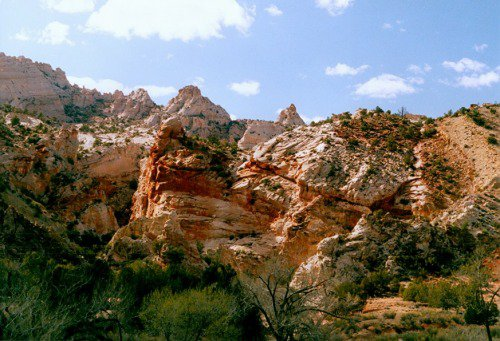 Grand Staircase, the canyon, red rocks with iron oxide.