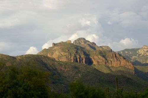 View from the Catalina Foothills, just south of the mountain range.