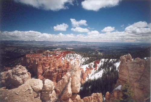 Bryce Canyon. Even better view of these contrasts.