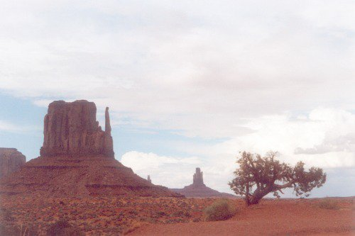 One of the famous mittens in Monument Valley.