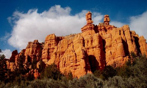 Rocks are redder than the ones in Bryce.