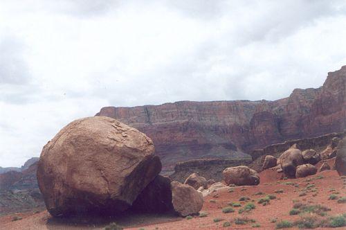 More large boulders.