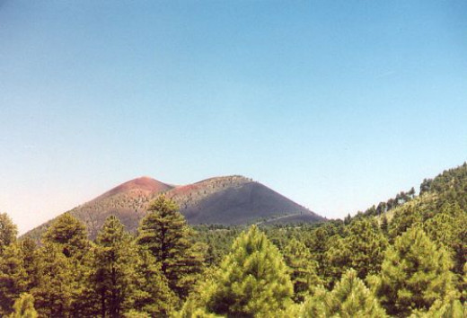 Distant view of the cinder cone.