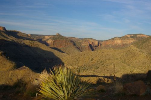 This is before you get to the canyon area.