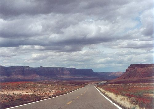 """""""Beckon into Infinity"""". That's what I felt when I saw this. The Vermilion Cliffs are on the left."""