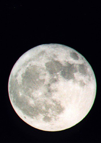 Full moon taken with mirror lens.