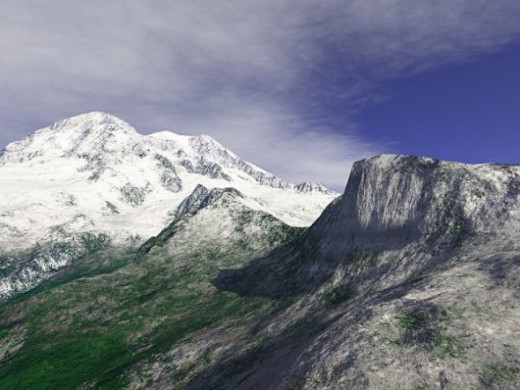 Rainier - Using the real terrain of Mount Rainier in Washington State, this is an attempt at realism.