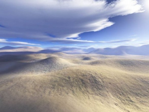 Desert - An attempt to simulate sand dunes. I can't get the wind patterns, however, at least not yet.