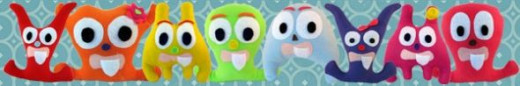 Freakadoodles Tooth Fairy Monster Pillows