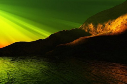 Rays on Rainier