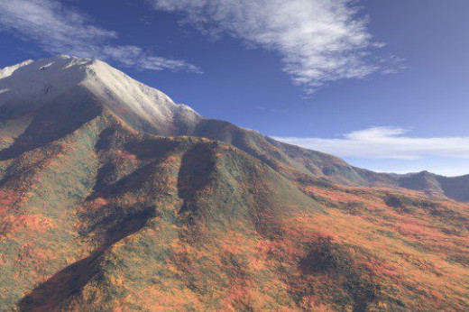 Terrain from Hanalei, adding autumn features from the Pacific Northwest. Fantasy.