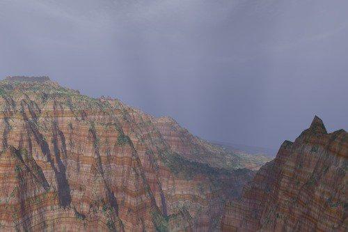 Terrain from Kauai, adding strata. Realism.