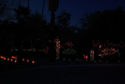 Lots of lights and some luminaria. Same house as last time.