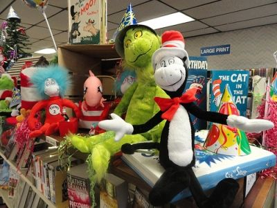 Library Display for Dr. Seuss's Birthday