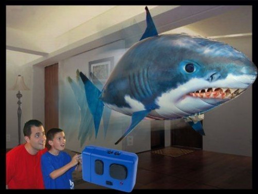large inflatable shark with remote control