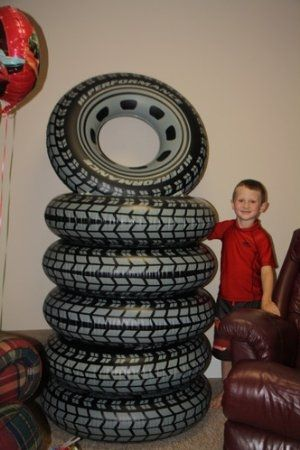 large inflatable toy tires