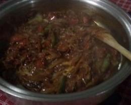 Vegetables cooking.