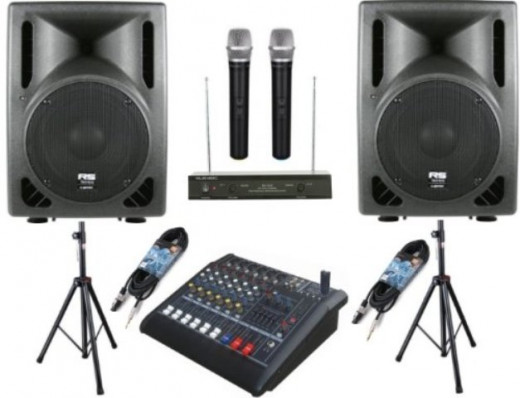 MUSYSIC Professional 2000 Watts Complete PA System