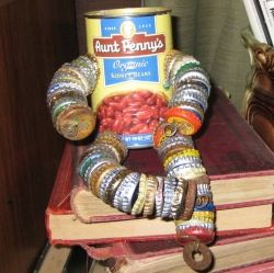 Kidney bean tin can man.