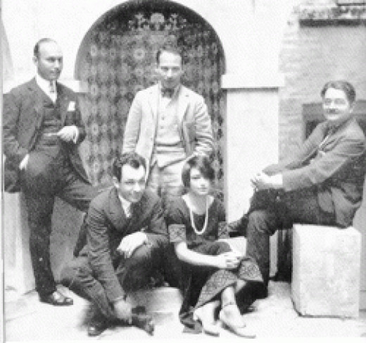 The Algonquin Round Table of which Dorothy Parker was a member.