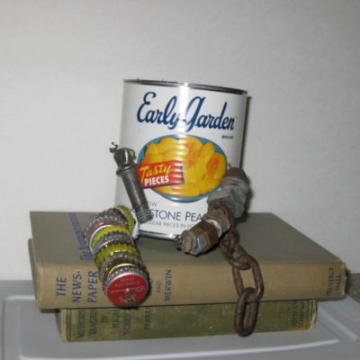 Make Found Object Art with Junk Like This Tin Can Man