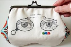 Make an eyeglass case with clip art from The Graphics Fairy.