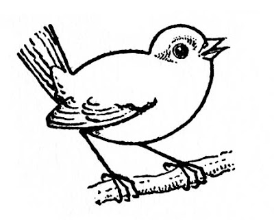 Grab this bird coloring page from The Graphics Fairy.The link is provided below.