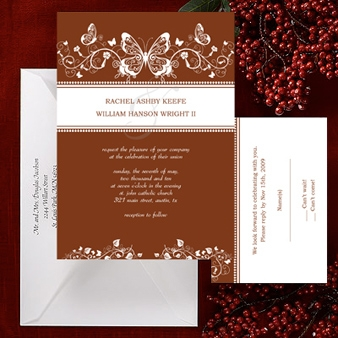 Butterfly Formal Wedding Invitation. To personalize and print, see the link below. Source:  http://designbetty.com/