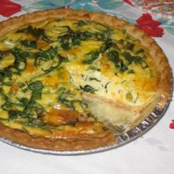 Quiche is easy and delicious.