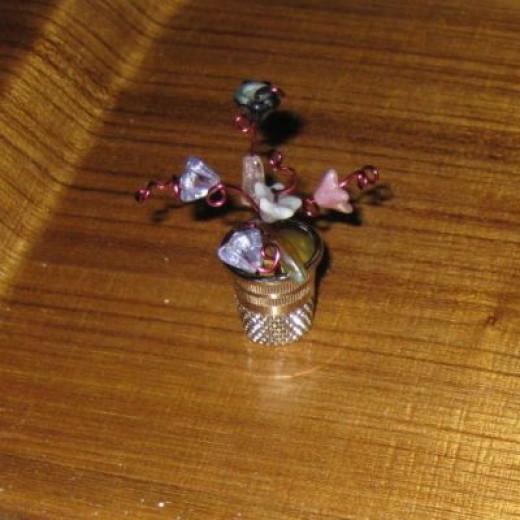 Make Thimble Flowerpots