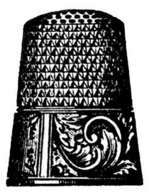 Thimble clip art courtesy of The Graphics Fairy.