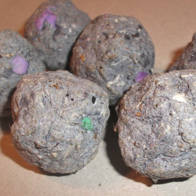 Lint seed bombs by NecroPolisHerbs on Etsy. See the link below to check them out!