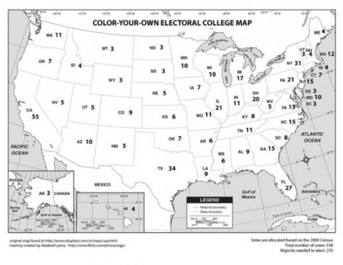 Color this U.S. map as the election results come in.