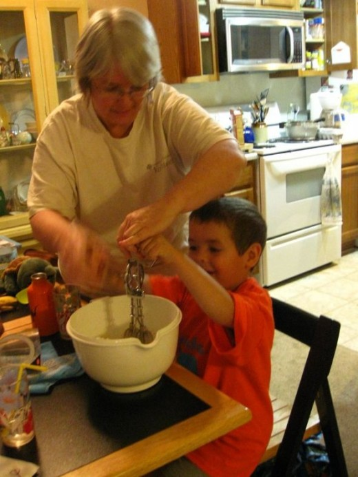 Making cupcakes using as few dishes and pans as possible.